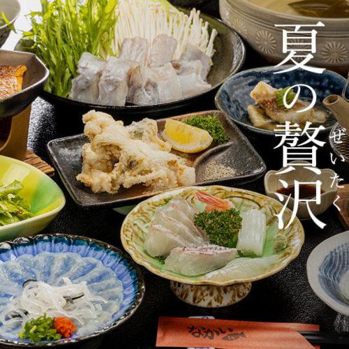 敦賀ふぐ・敦賀真鯛 夏の贅沢(ぜいたく)